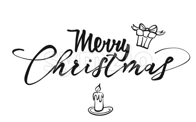 Merry Christmas lettering Stock Vector