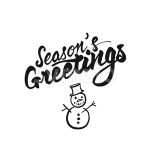 Seasons Greetings lettering Stock Vector
