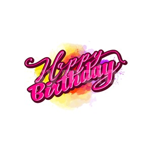 happy birthday lettering Stock Vector