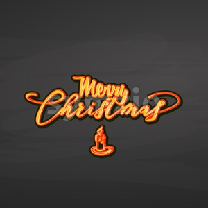 Merry Christmas lettering on chalkboard Stock Vector