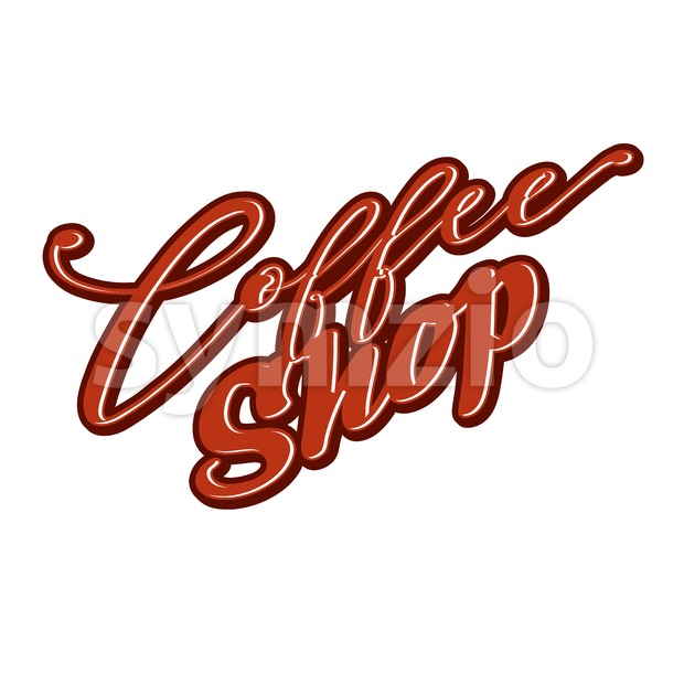 Coffee Shop lettering Stock Vector