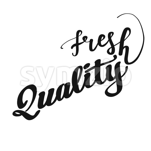 Fresh Quality lettering Stock Vector