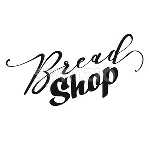 Bread Shop lettering Stock Vector