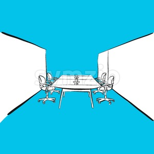 office desk meeting room Stock Vector