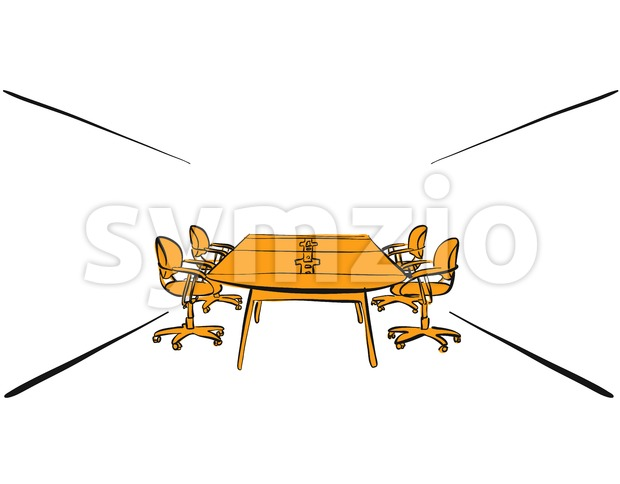 office desk meeting Stock Vector