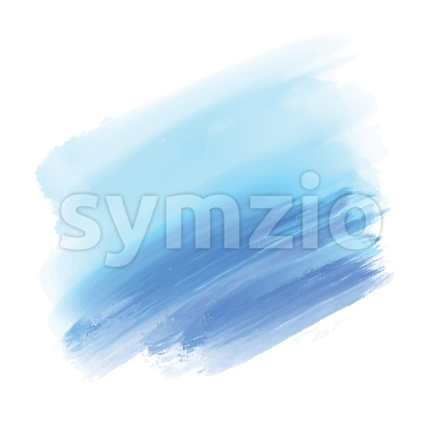 Light blue and blue watercolor background. Colorful vector background for print decoration. CMYK color space.