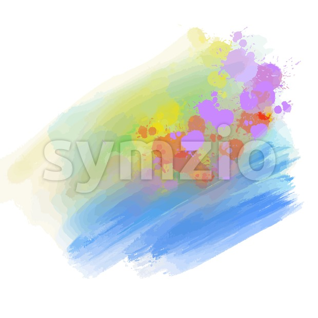 watercolor background with bright splashes Stock Vector