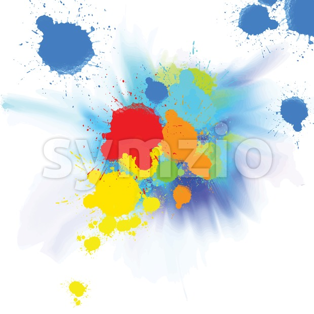 watercolor background with colorful splashes Stock Vector