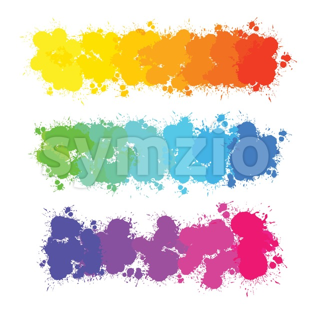 colorful color splashes gradients Stock Vector