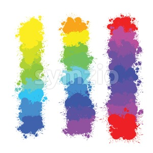 color splashes backgrounds Stock Vector