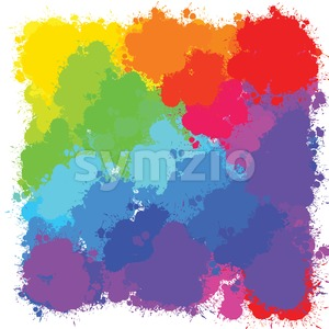 bright splashes backgrounds pattern Stock Vector