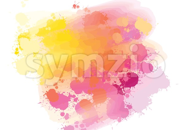Hand-drawn colors splashes background. Colorful vector sketch for print decoration. CMYK color space.
