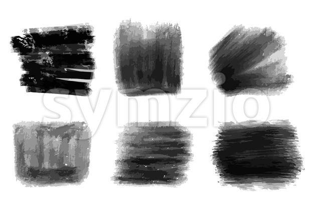 Hand-drawn black pencils strokes. Vector background for print decoration. CMYK color space.