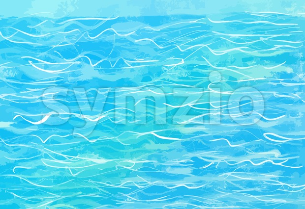 hand-drawn blue water background Stock Vector
