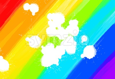 hand-drawn colorful rainbow Stock Vector