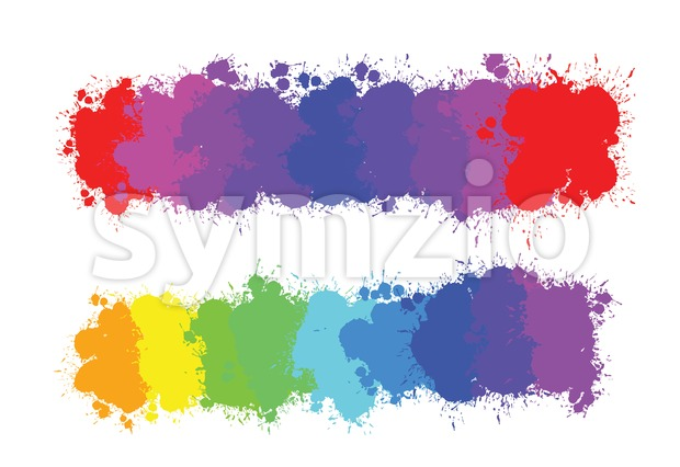hand-drawn colourful gradient of splashes Stock Vector