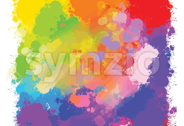 hand-drawn colourful splashes background Stock Vector