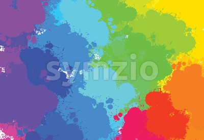 hand-drawn colourful splashes diagonal Stock Vector