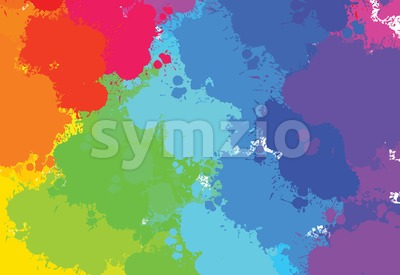 hand-drawn colourful splashes pattern Stock Vector