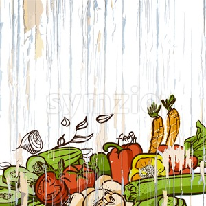 vintage vegetables menu background Stock Vector