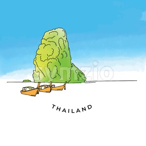 Colorful Thailand rock Stock Vector
