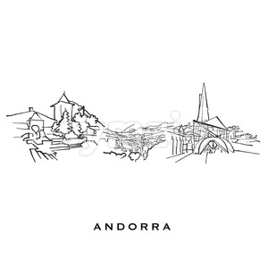 Andorra famous architecture Stock Vector