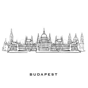 Budapest Hungary famous architecture Stock Vector