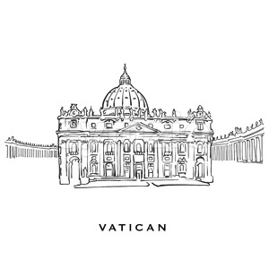 Vatican famous architecture Stock Vector