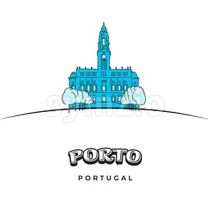 Porto Portugal travel sign Stock Vector