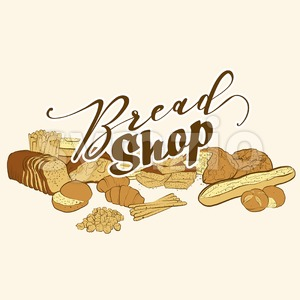bread shop logo Stock Vector