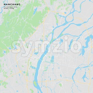 Printable street map of Nanchang, China Stock Vector