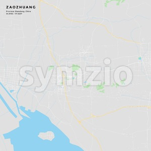 Printable street map of Zaozhuang, China Stock Vector