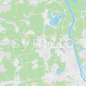 Frankenthal (Pfalz), Germany printable street map Stock Vector