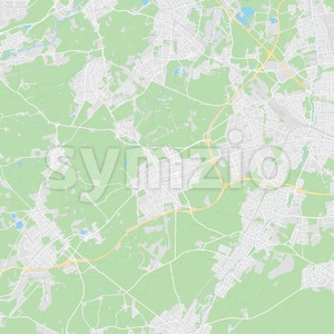 Germering, Germany printable street map Stock Vector