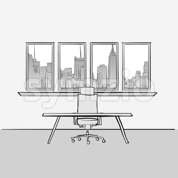 Empty office room concept Stock Vector