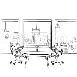 Interior metropolis office Stock Vector