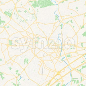 Montpellier, France Vector Map - Classic Colors Stock Vector