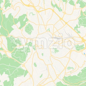 Saint-Etienne, France Vector Map - Classic Colors Stock Vector