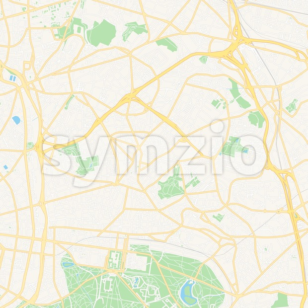 Montreuil, France Vector Map - Classic Colors Stock Vector