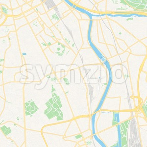 Vitry-sur-Seine, France Vector Map - Classic Colors Stock Vector
