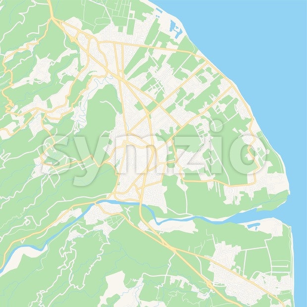 Saint-Andre, France Vector Map - Classic Colors Stock Vector