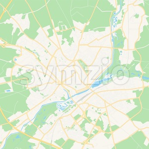 Saint-Quentin, France Vector Map - Classic Colors Stock Vector