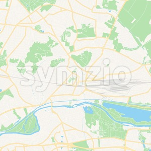Chelles, France Vector Map - Classic Colors Stock Vector