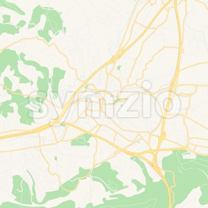 Aubagne, France Vector Map - Classic Colors Stock Vector