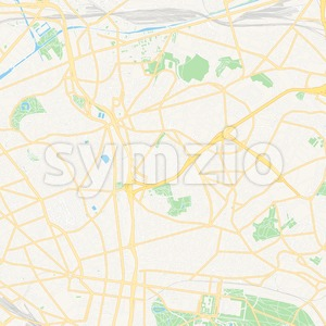 Bagnolet, France Vector Map - Classic Colors Stock Vector