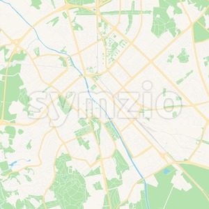 Uppsala, Sweden Vector Map - Classic Colors Stock Vector