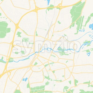 Orebro, Sweden Vector Map - Classic Colors Stock Vector