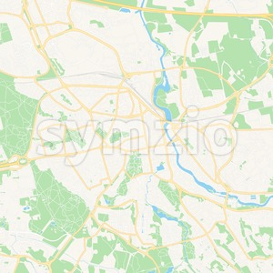 Linkoping, Sweden Vector Map - Classic Colors Stock Vector