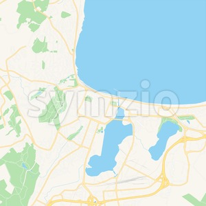 Jonkoping, Sweden Vector Map - Classic Colors Stock Vector