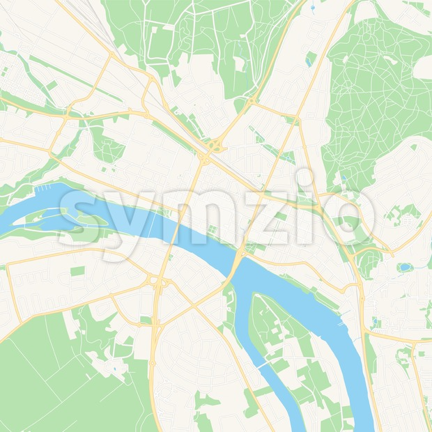 This printable Umea, Sweden Vector Map - Classic Colors with major and minor roads is carefully designed for routing and ...